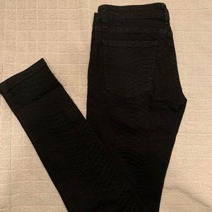 CARMAR patterned black jean